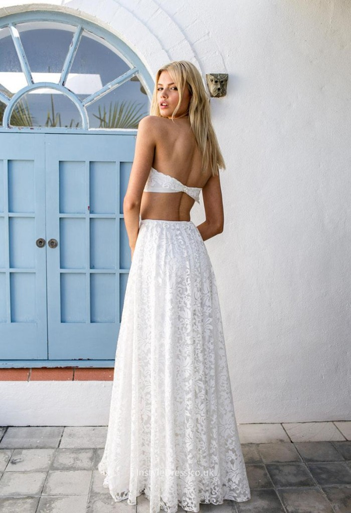 open-back-strapless-white-fluttering-crop-top-a-line-lace-wedding-dress-3